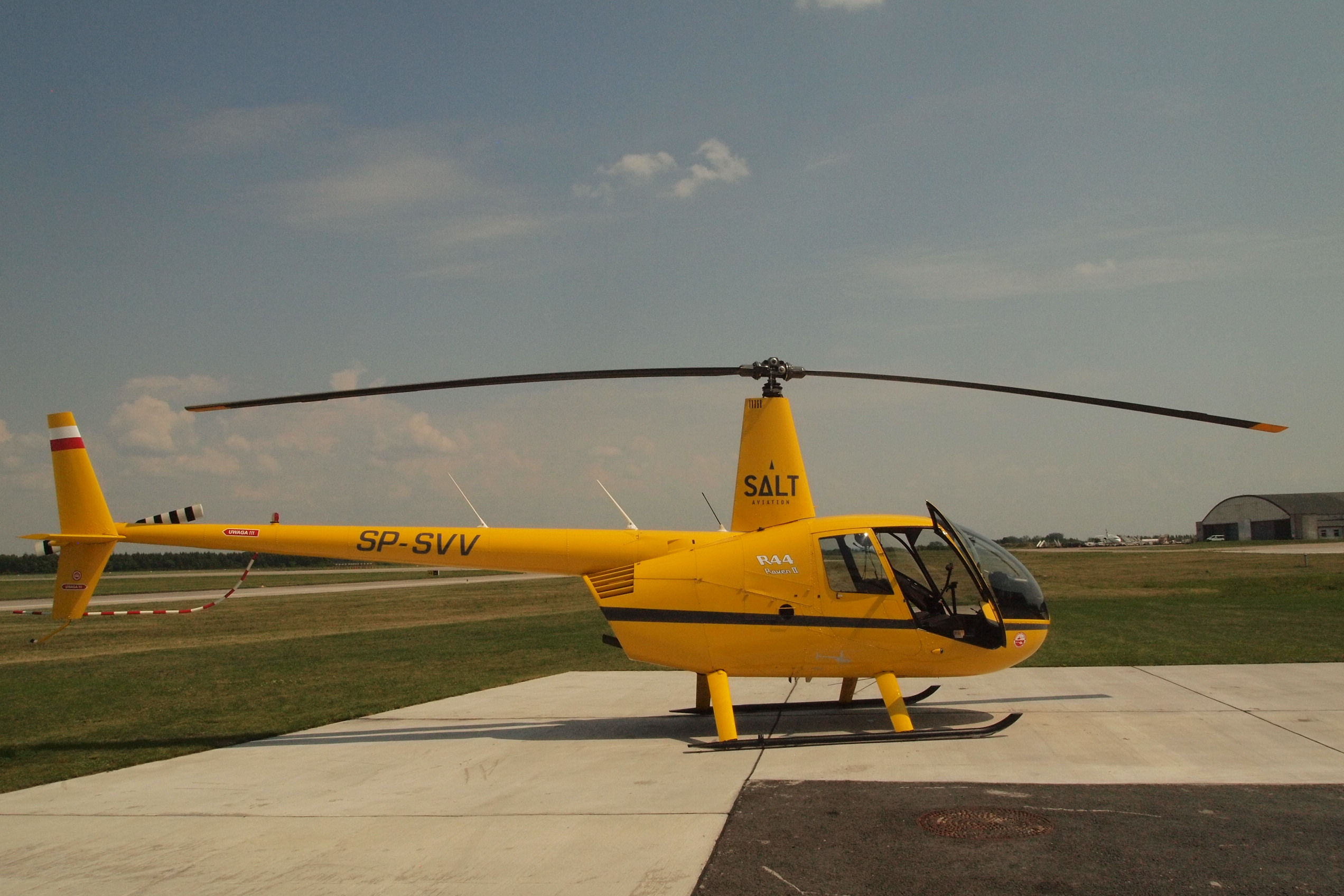 Helicopter flight by Robinson R44 from Modlin Airport in Warsaw