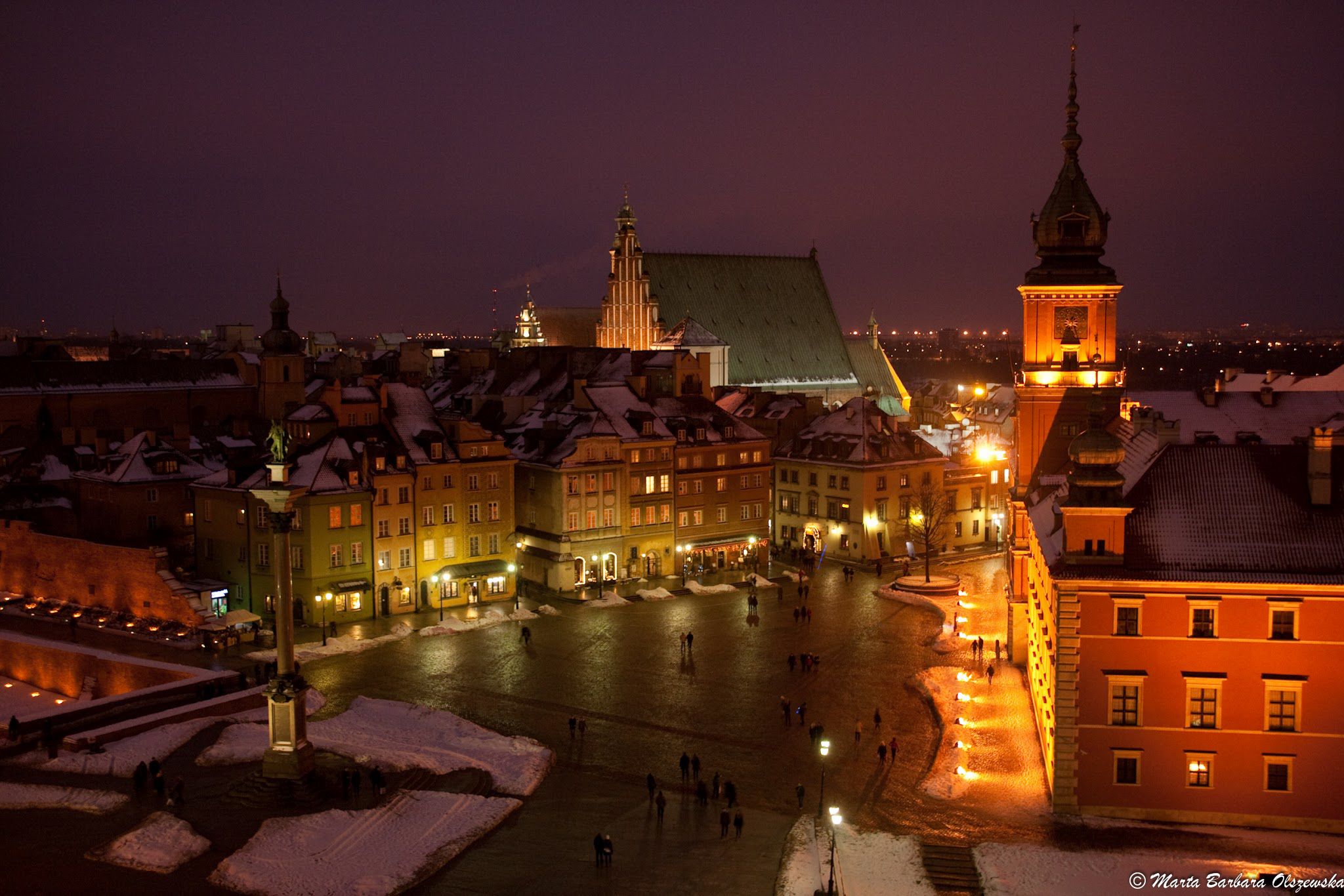 Old Town by night, Warsaw