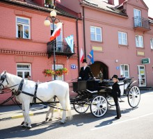 Horse carriage cab in Warsaw, Poland