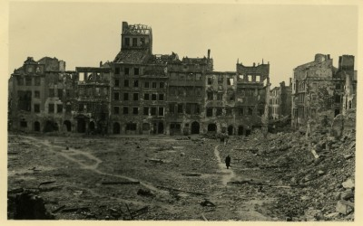 Warsaw Old Town during World War II