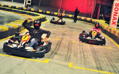Go-kart racing is fun!