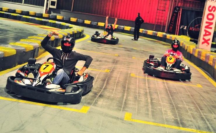 Go-kart racing is fun!