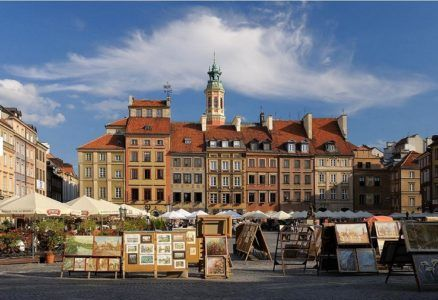 Main square in Warsaw