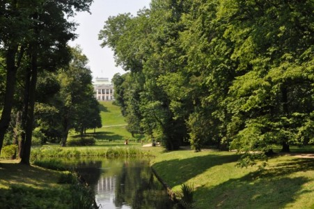 Lazienki Royal Park in Warsaw