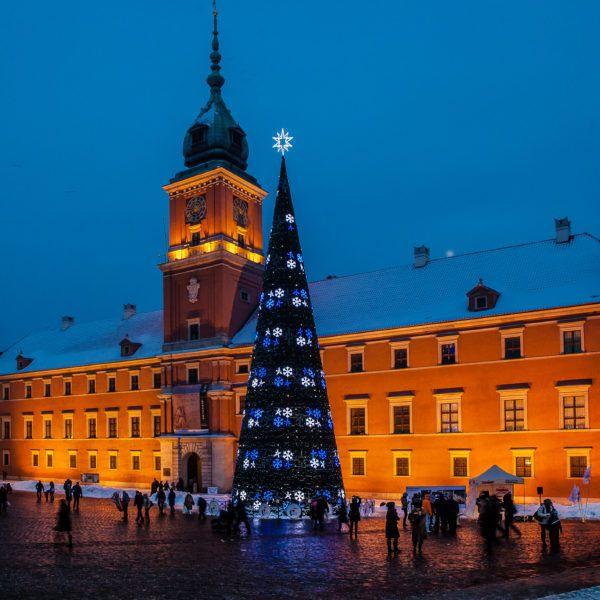 Warsaw city Christmas tree