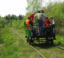 Hand railway car in Bialowieza Forest