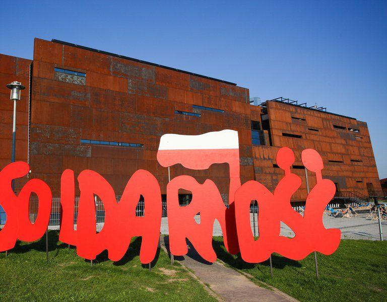 Solidarnosc Sign in Gdansk