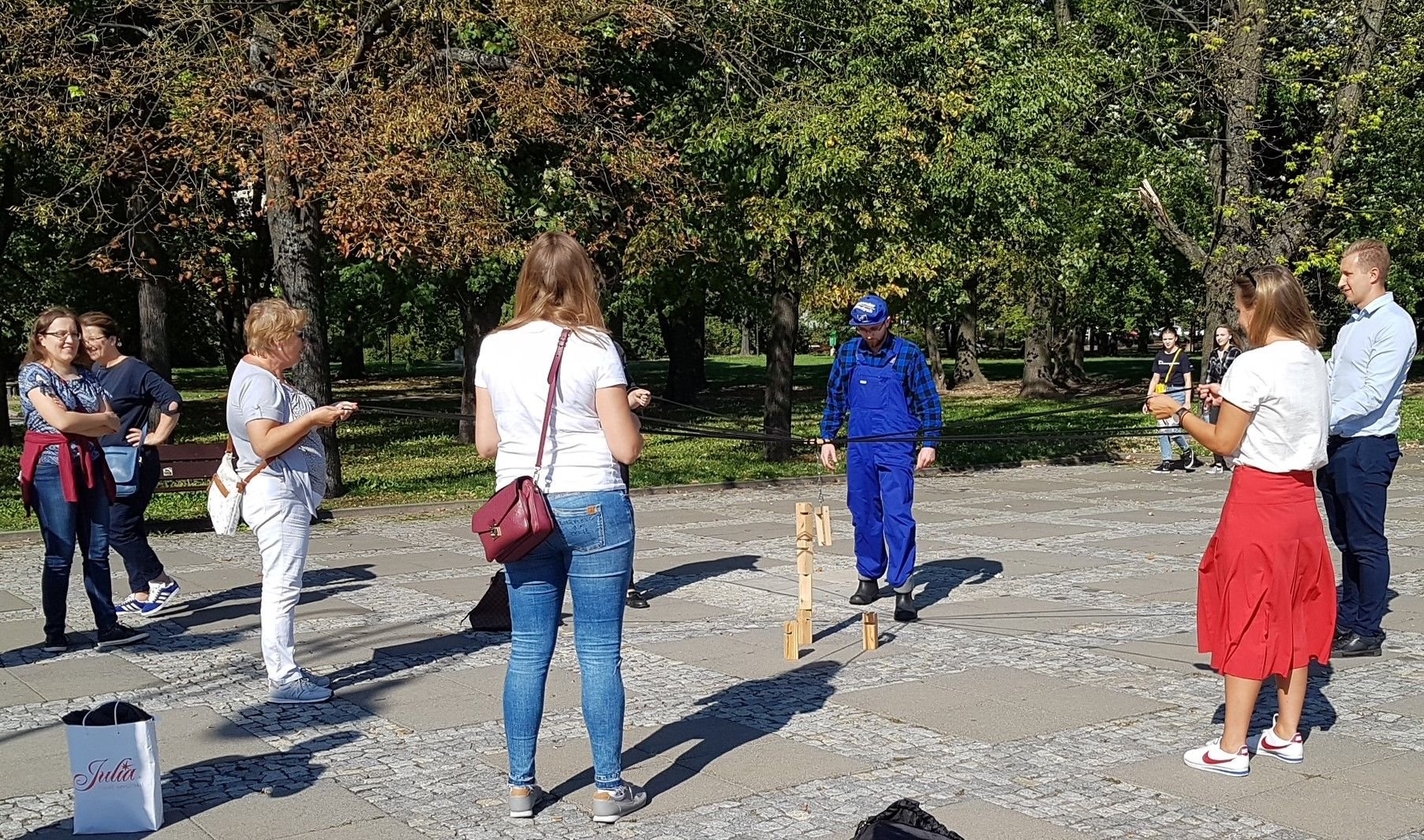Task during city game in Warsaw