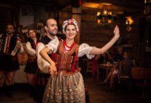 Folk dance in a village outside Krakow