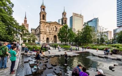 Grzybowski square in Warsaw