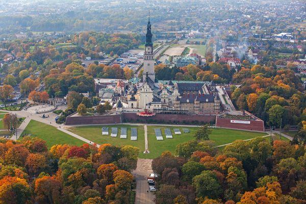 Czestochowa, Jasna Gora sanctuary, bird's eye view