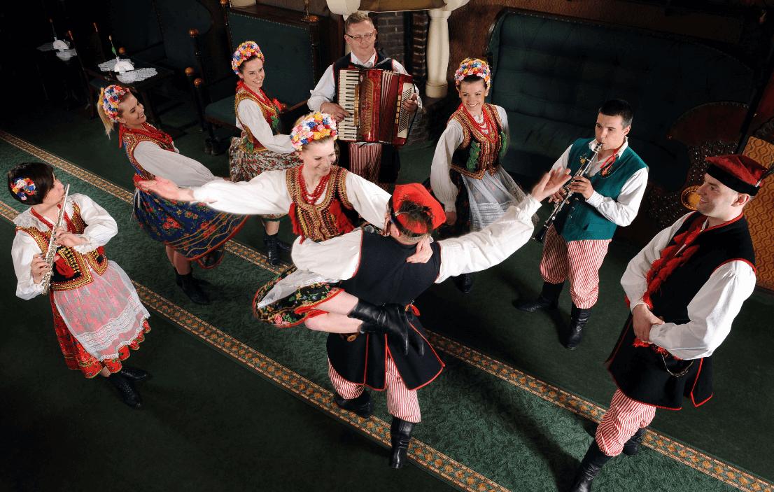 Folkd dance show in Krakow