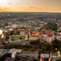 Panorama of Krakow with Wawel Hill