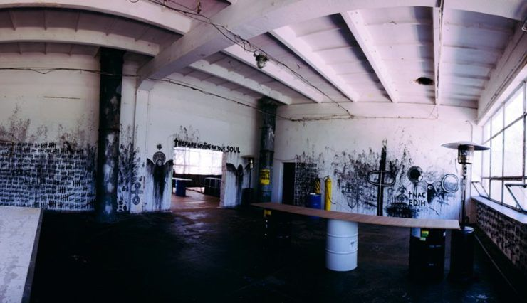 paintball hall in Warsaw - interior