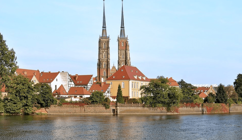 Wroclaw, Cathedral Island seen from a cruise