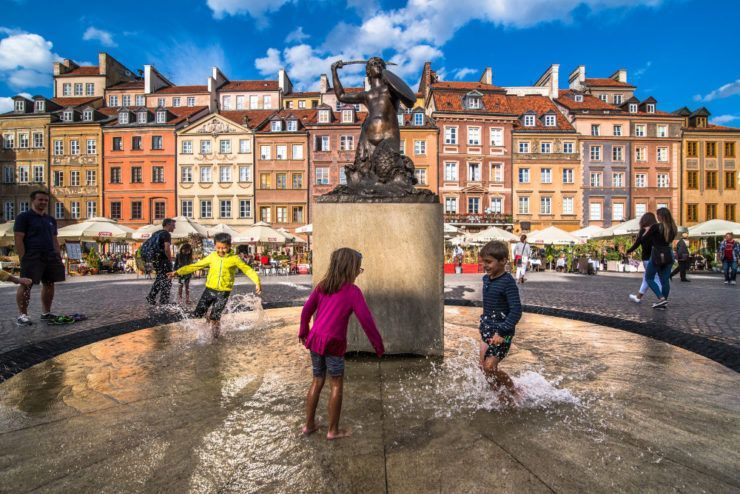 The Old Town Market Place, Warsaw