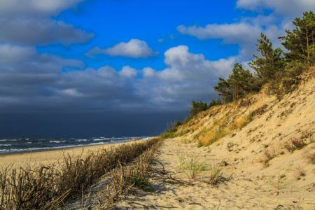 Leba, Baltic coast